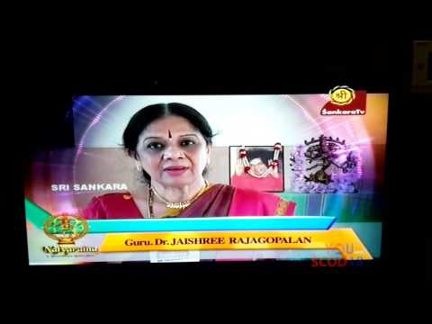 Dr. Jayashree Rajagopalans at Natyarathna on Sankara T.V.